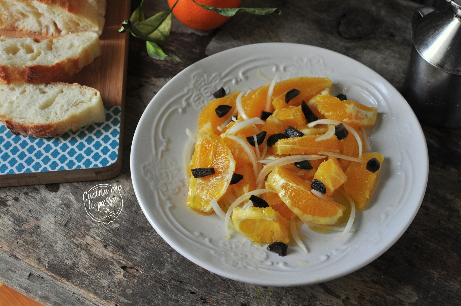 insalata d'arance ed olive nere