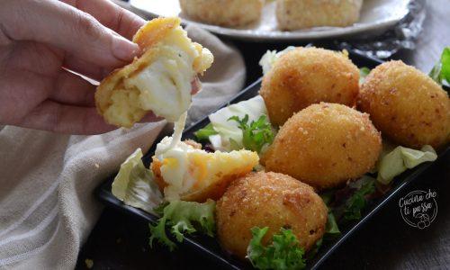 Polpette di patate filanti