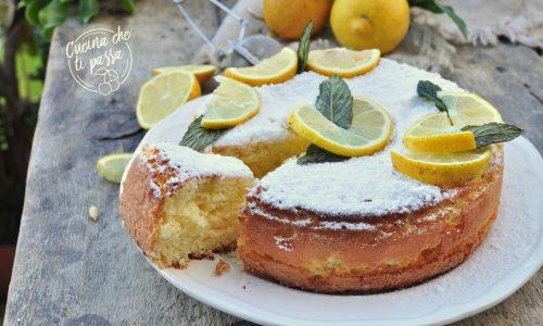 Torta al limone senza burro