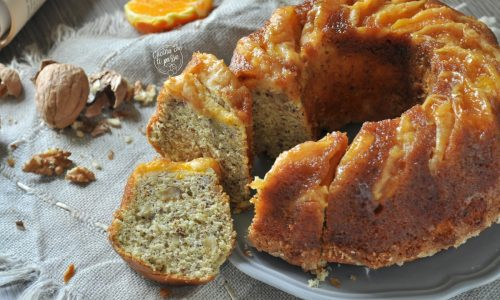 Torta arancia e noci