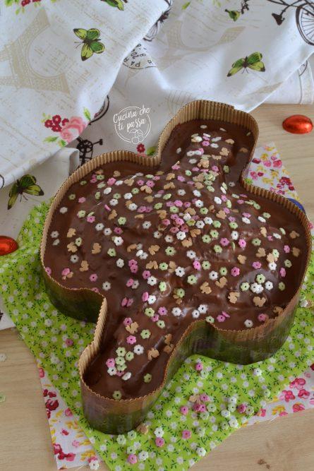 Colomba finta al cioccolato