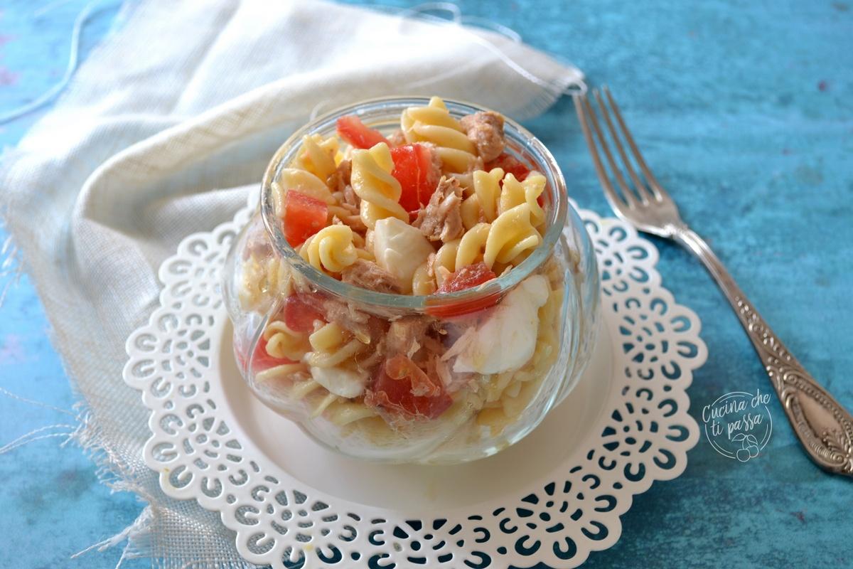 Pasta fredda con tonno e pomodoro