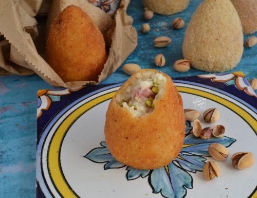 Arancini al prosciutto e pistacchio