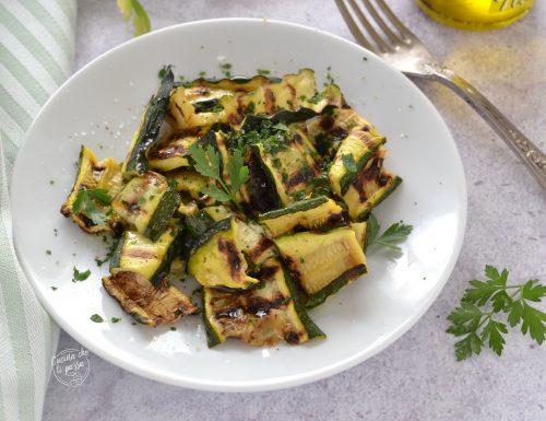 Zucchine alla piastra al prezzemolo