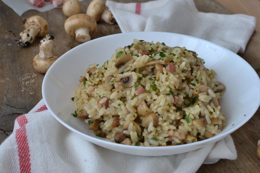 risotto funghi e pancetta ricetta
