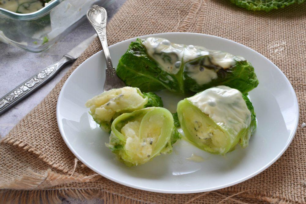 Involtini di verza e patate e gorgonzola