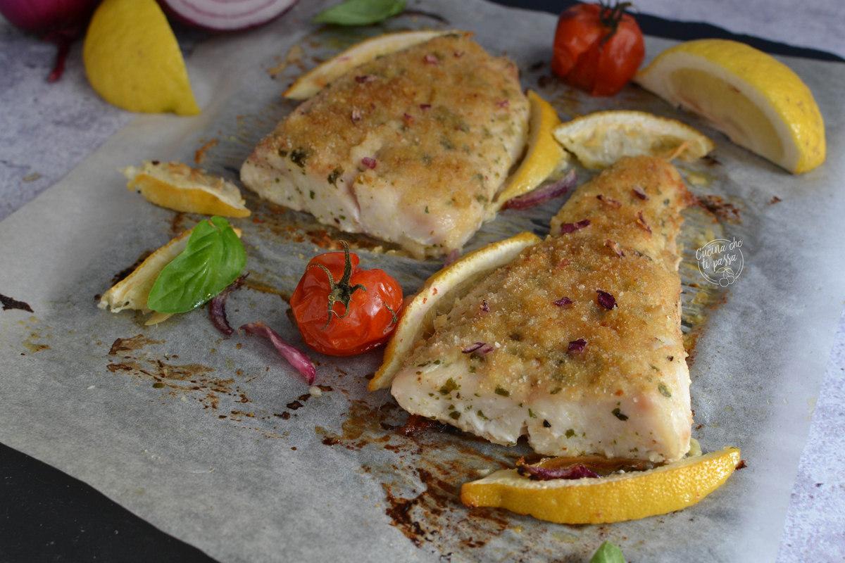 Persico gratinato al forno ricetta