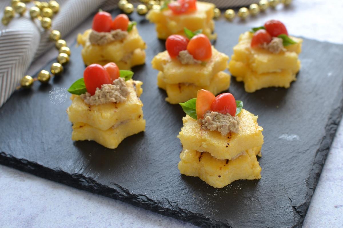 Tartine di polenta ricetta