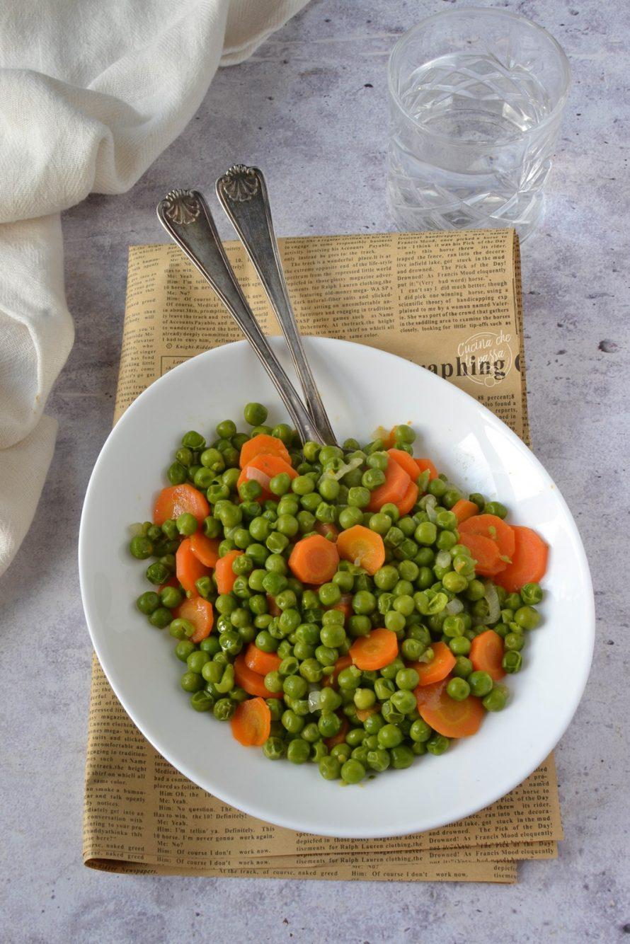 Contorno di piselli e carote