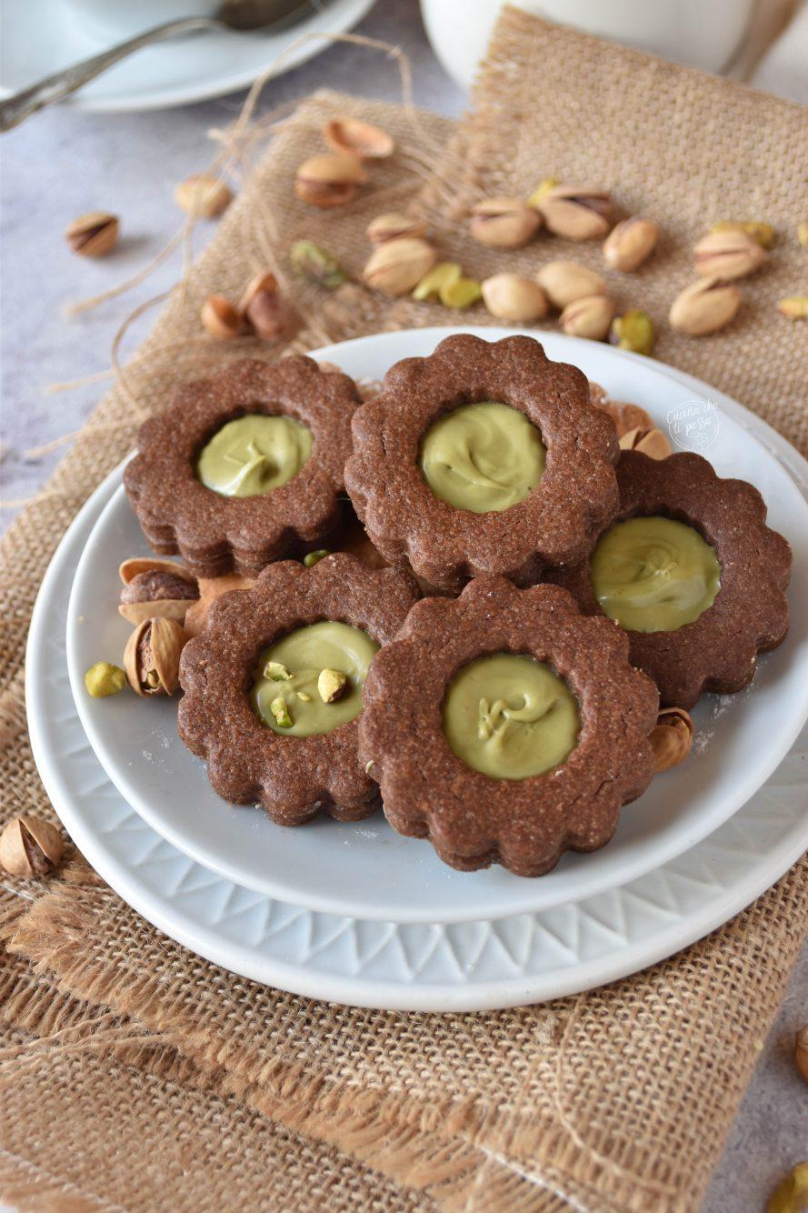 biscotti con crema di pistacchio