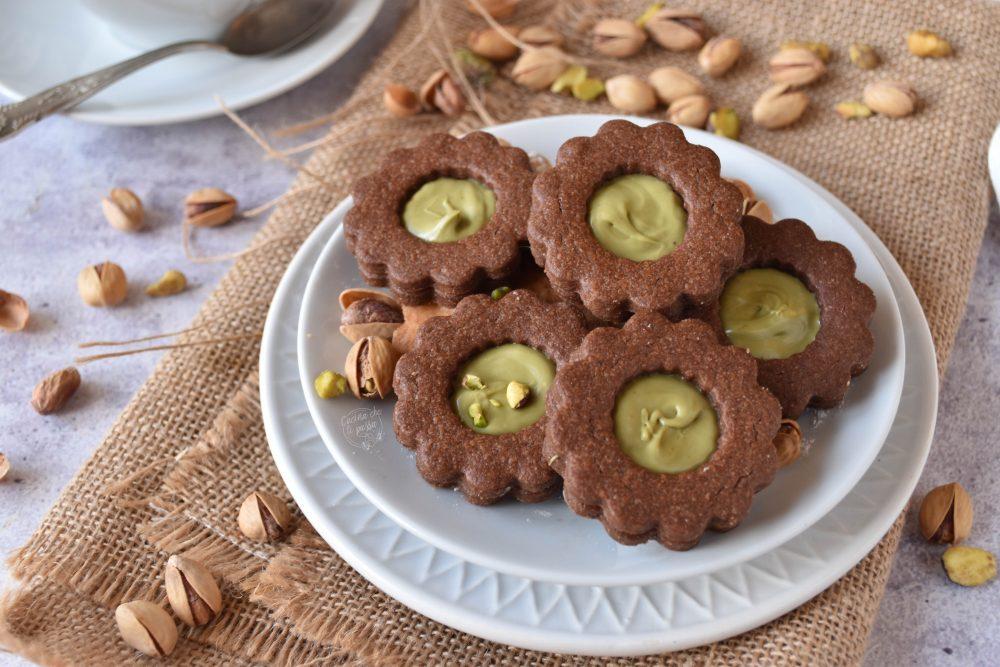 biscotti con crema di pistacchio ricetta