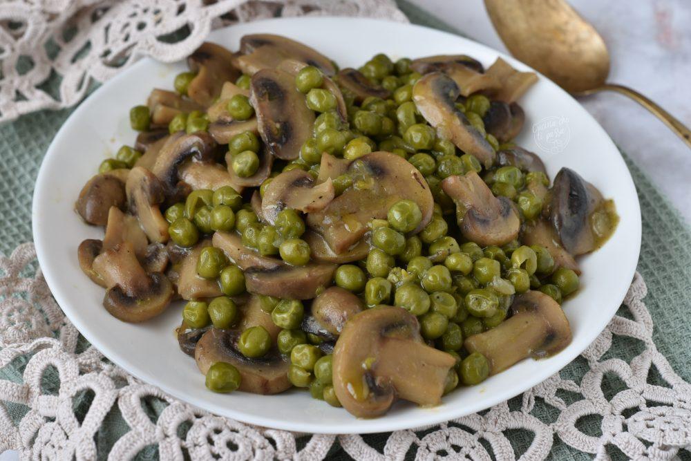 Funghi e piselli