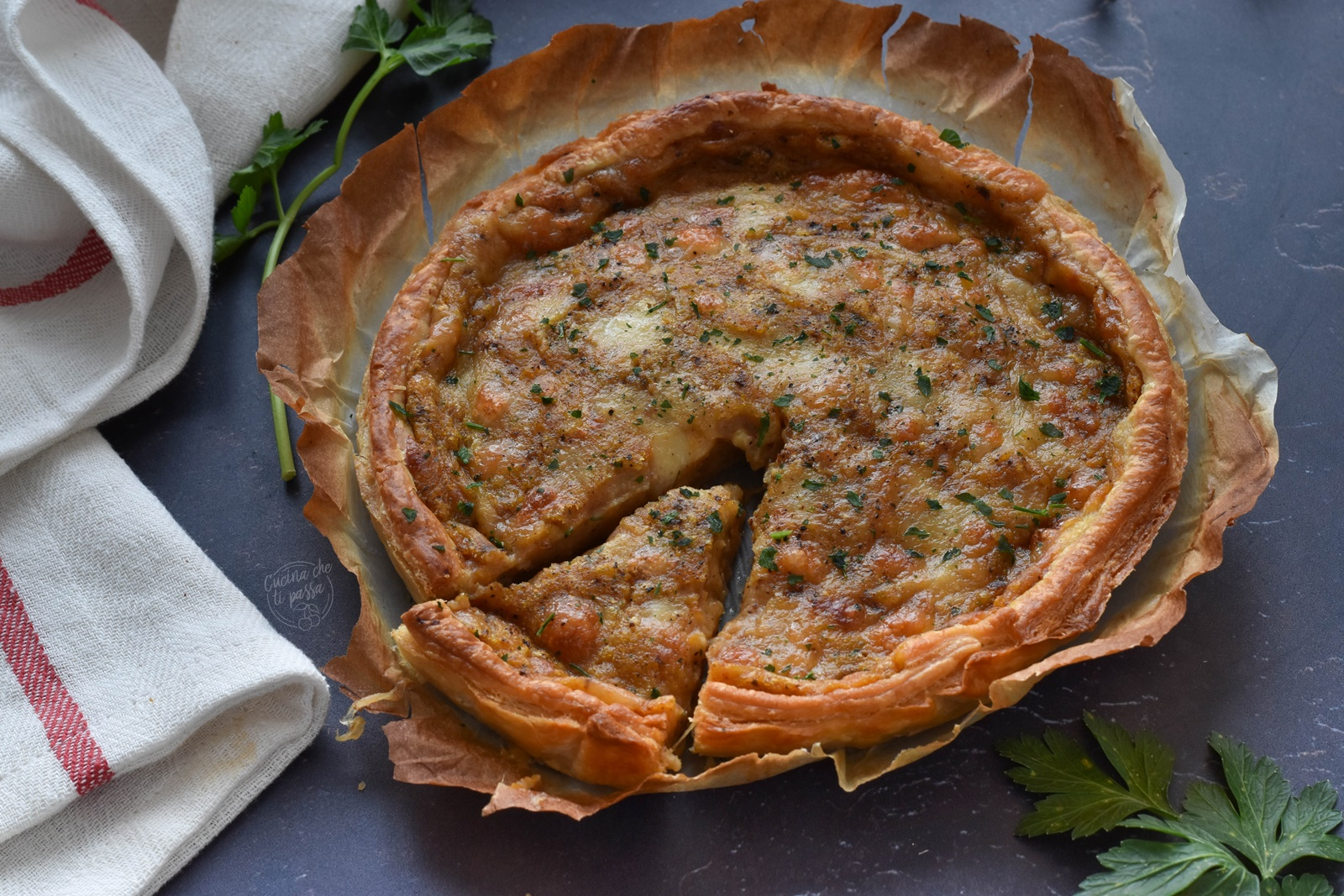 Torta salata con zucca e patate