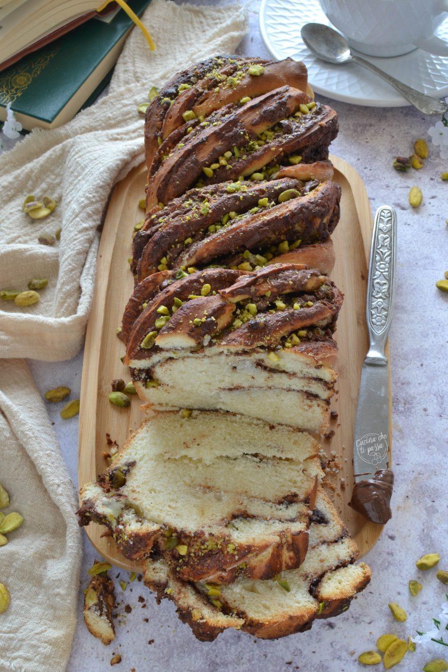 Treccia nutella e pistacchi ricetta
