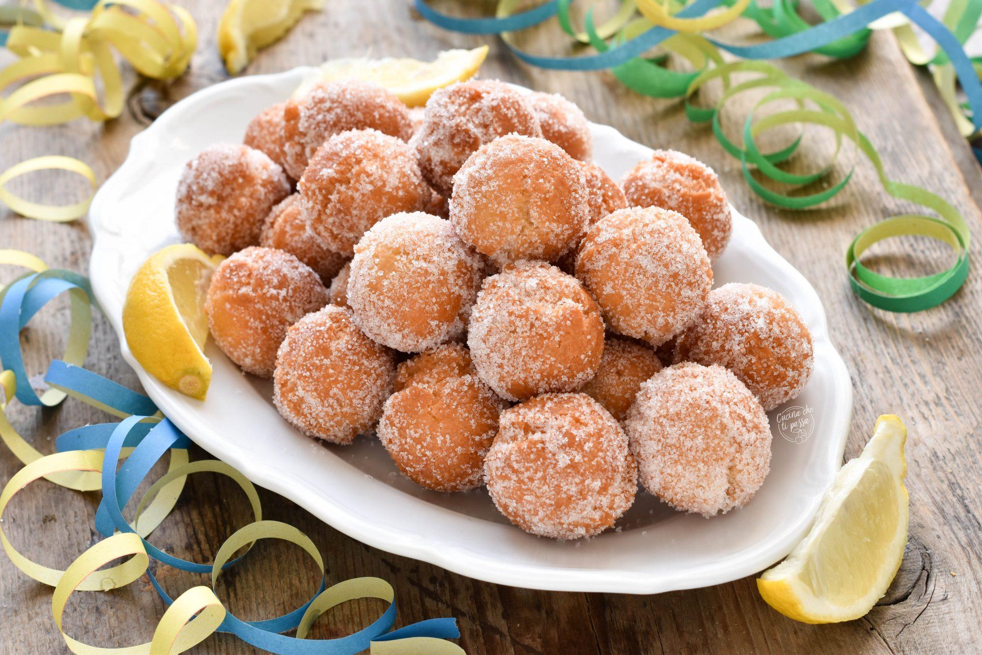 Castagnole al limone ricetta