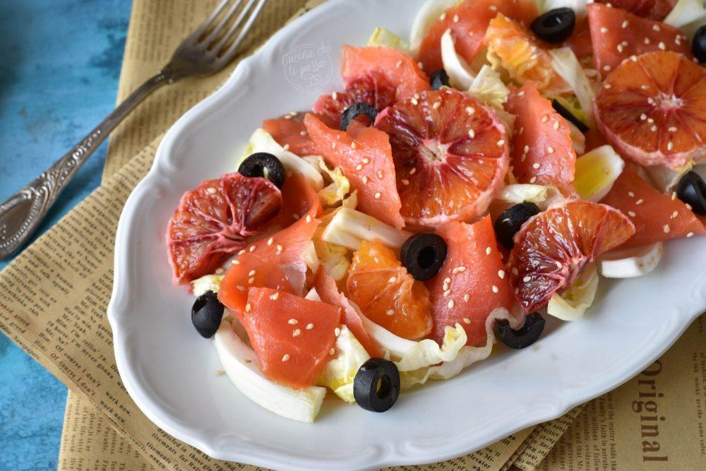 Insalata arance e salmone ricetta