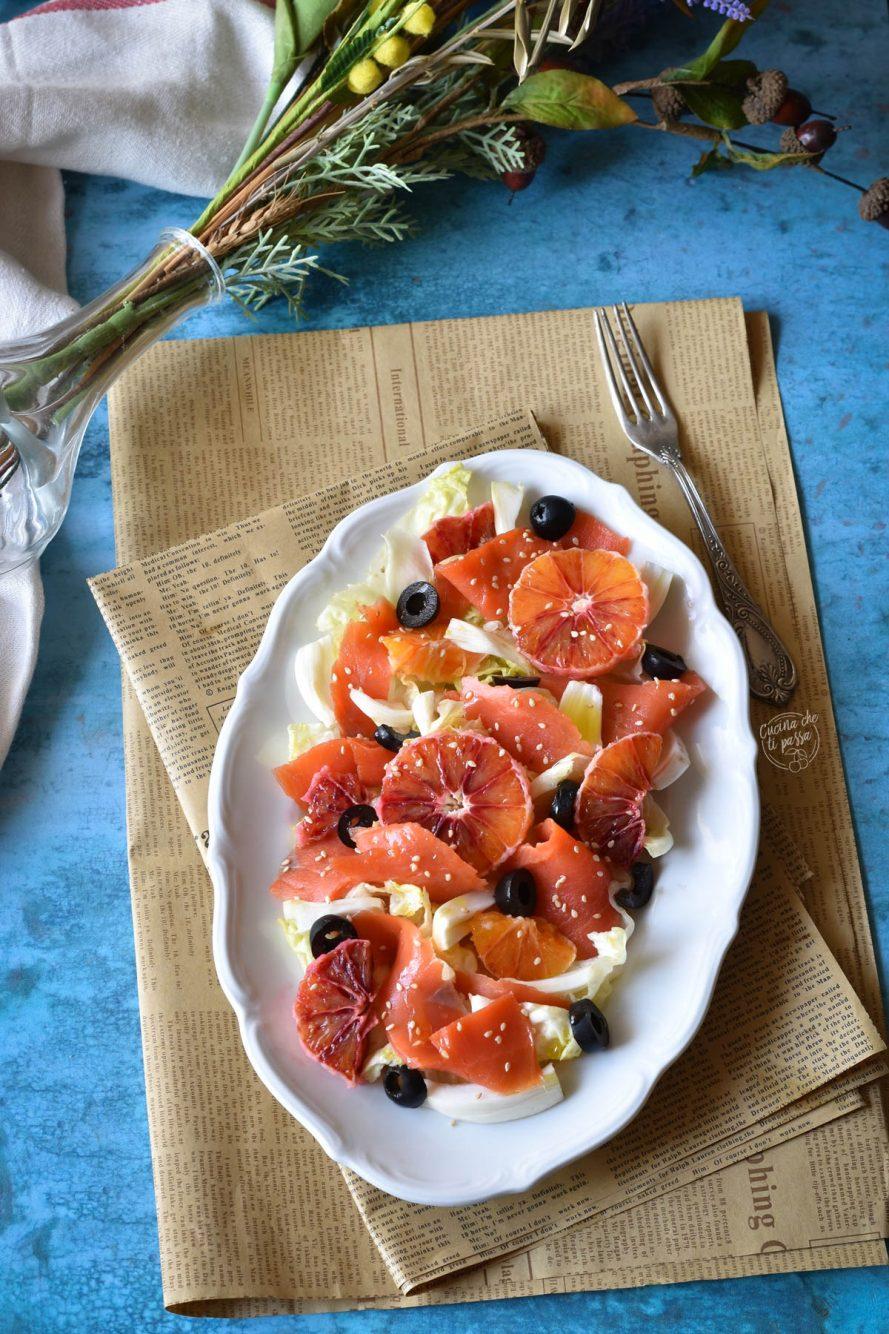 Insalata arance e salmone