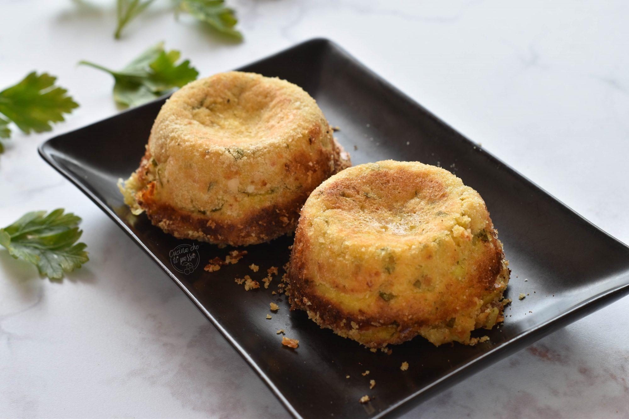 tortini di patate e mozzerella