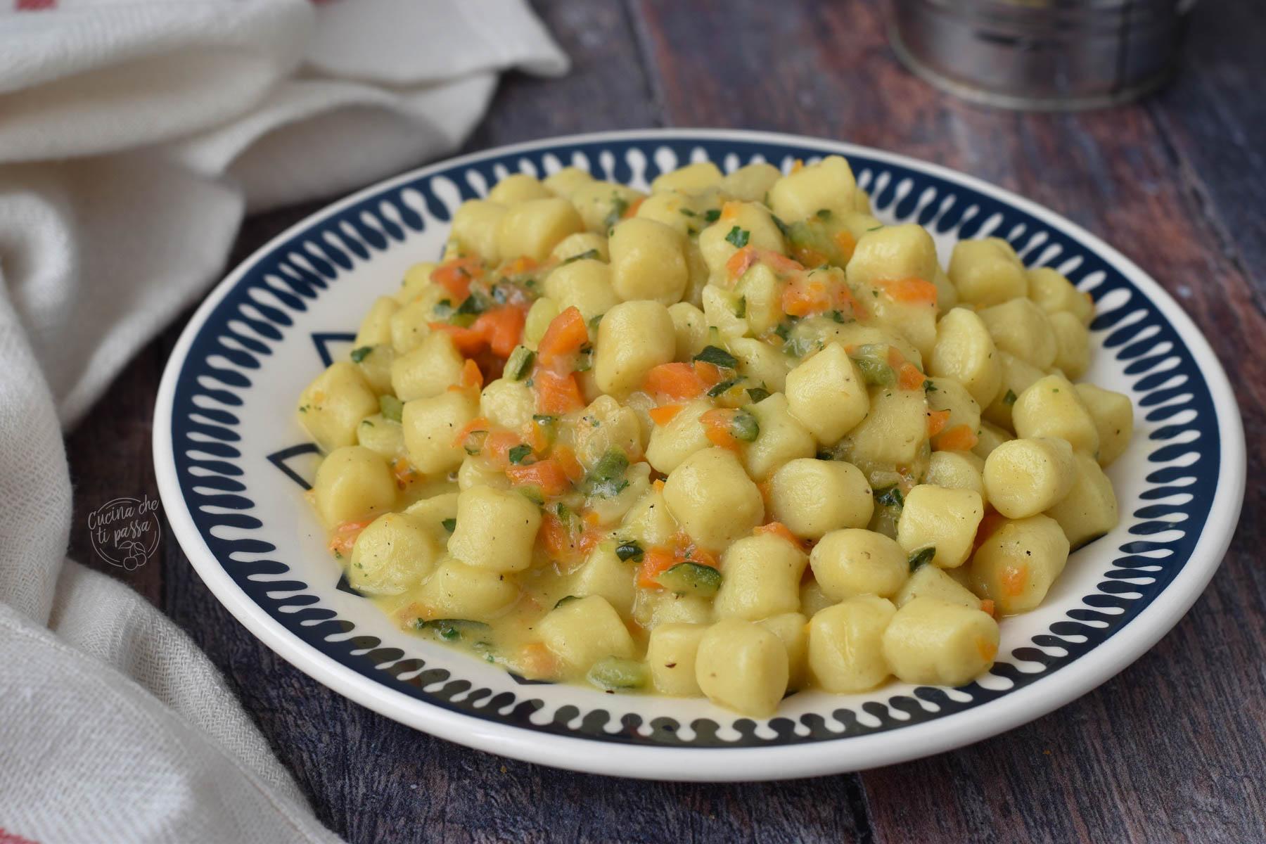 Gnocchi zucchine e carote