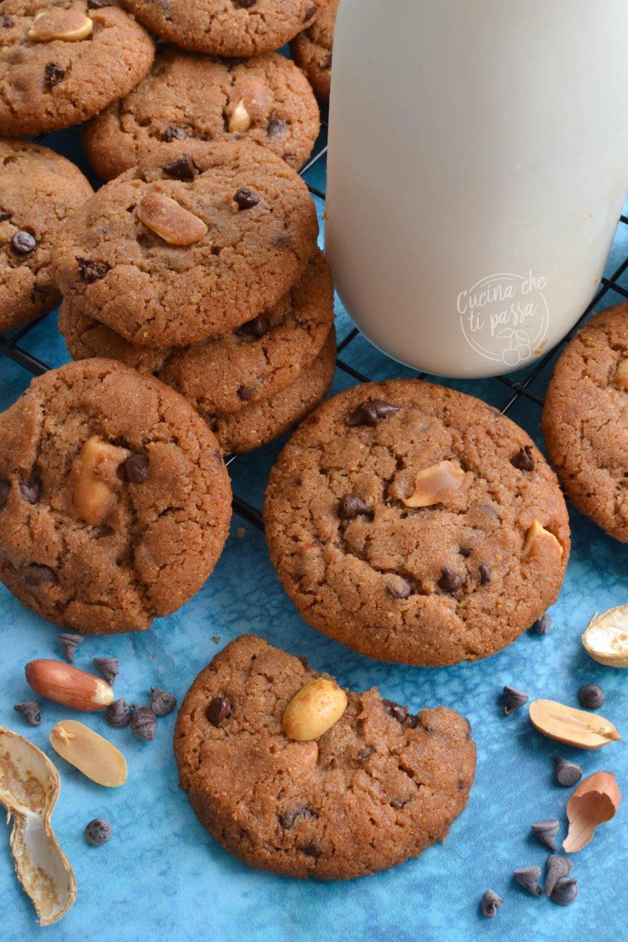 biscotti burro di arachidi e cioccolato