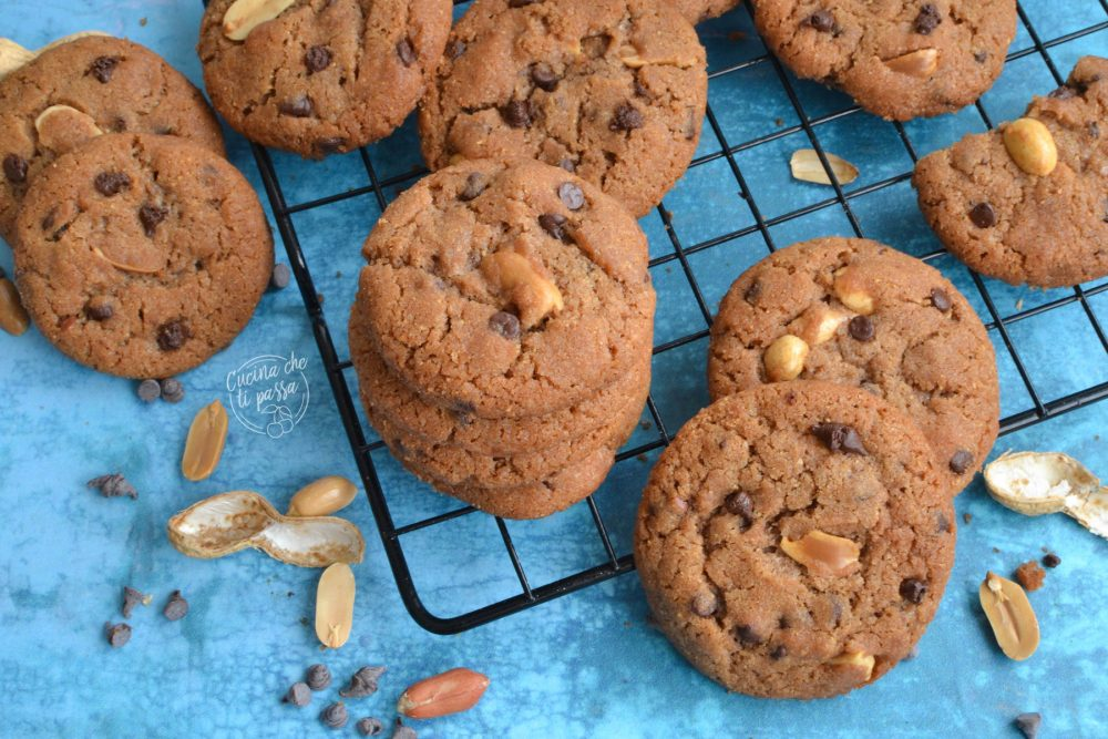 biscotti burro di arachidi e cioccolato ricetta