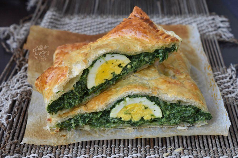 pasta sfoglia spinaci e uova ricetta