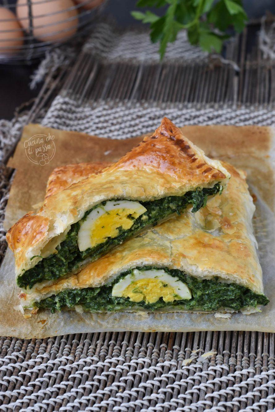 pasta sfoglia spinaci e uova