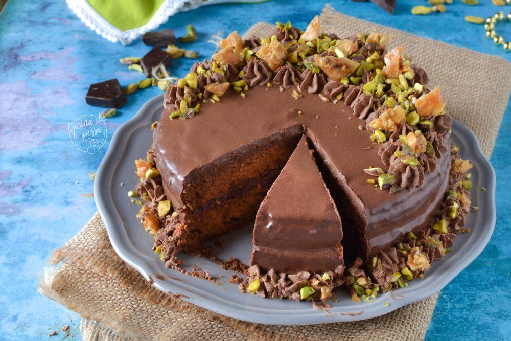 Torta glassata al cioccolato ricetta