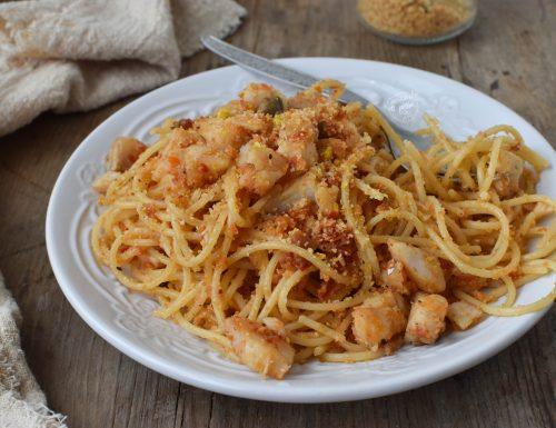Pasta baccalà e pomodori secchi