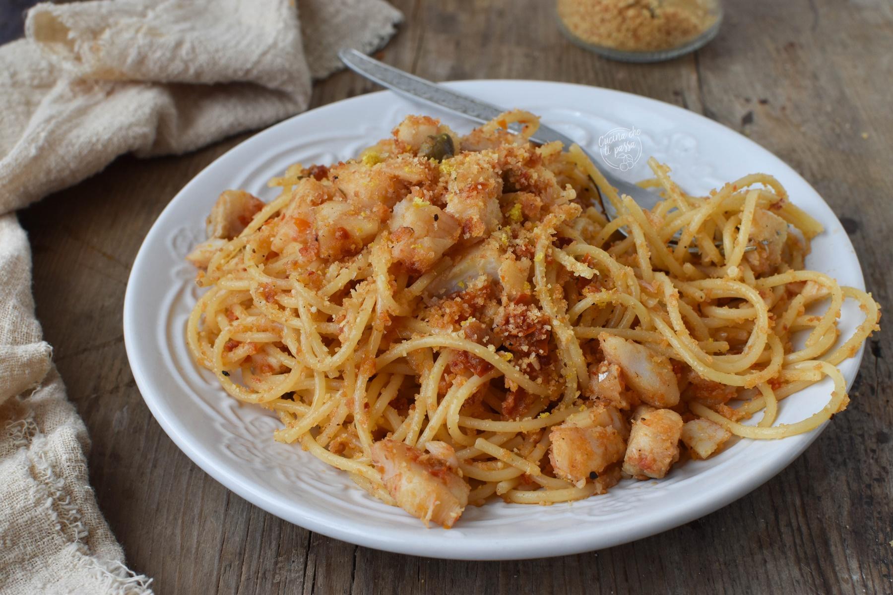 Pasta baccalà e pomodori secchi ricetta