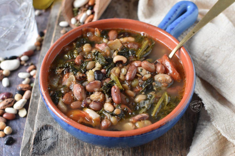 Zuppa di legumi e cavolo nero ricetta