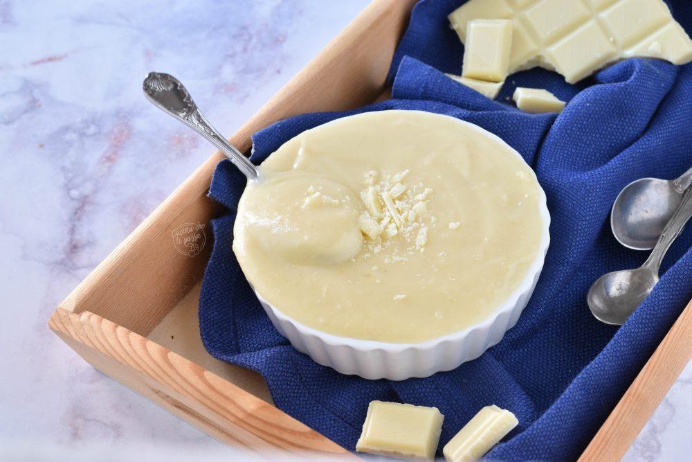 Crema al cioccolato bianco ricetta