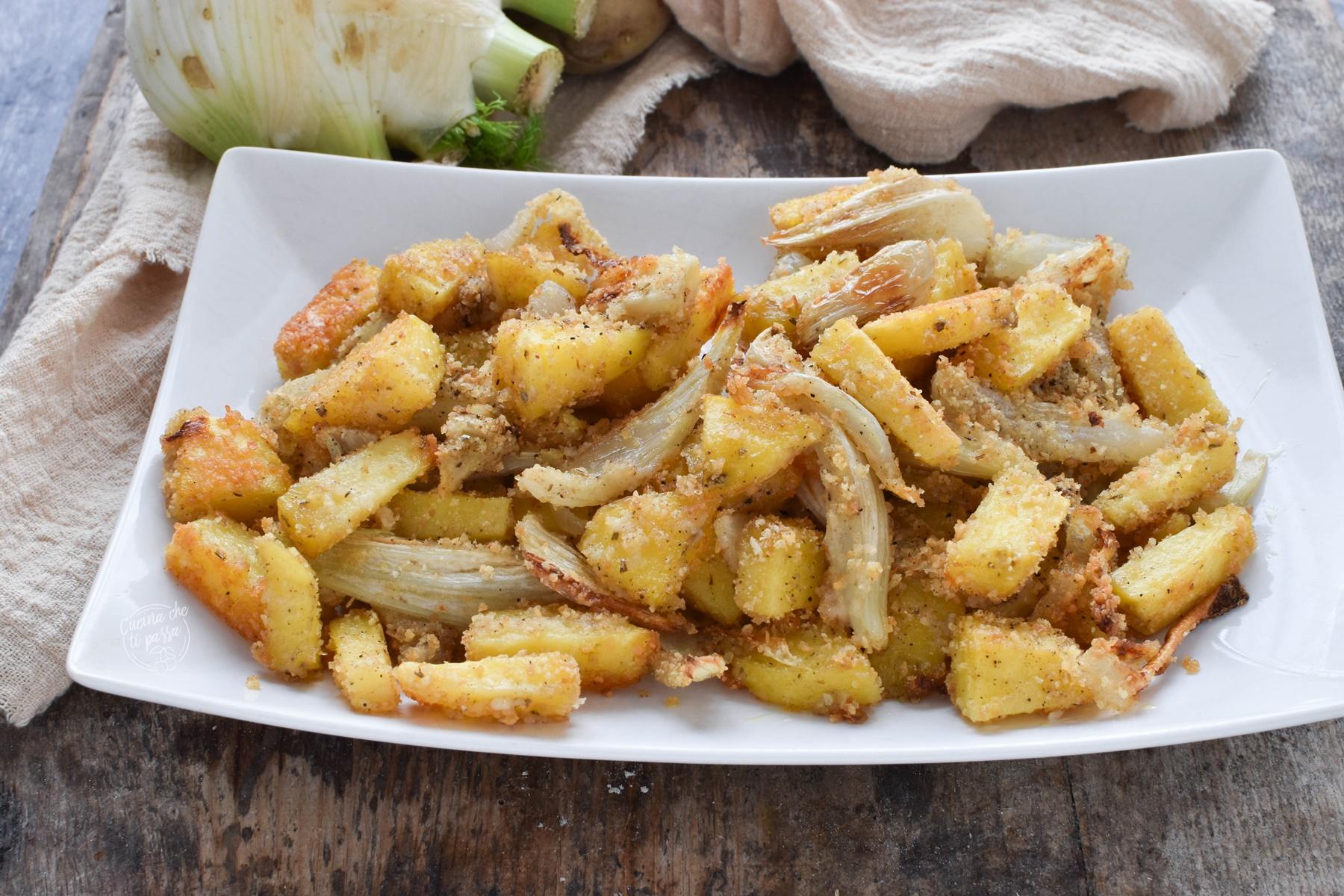Finocchi e patate gratinati in forno