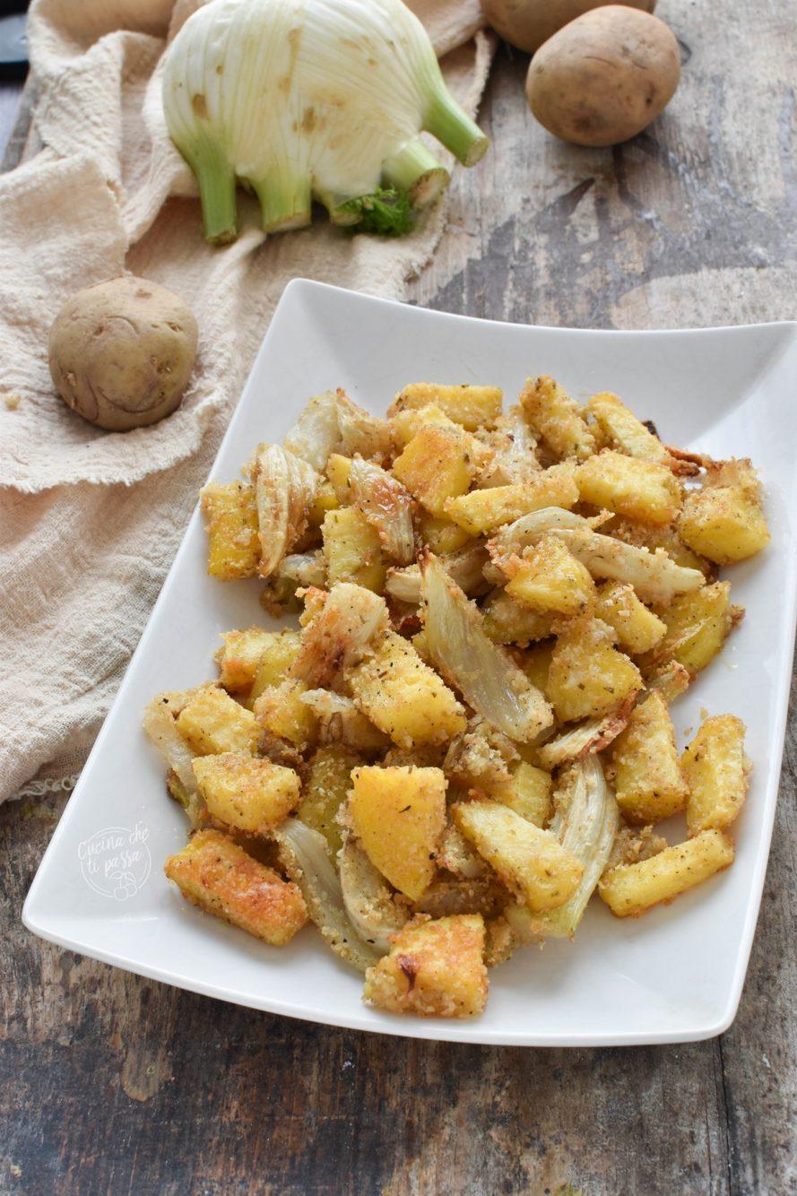 Finocchi e patate gratinati