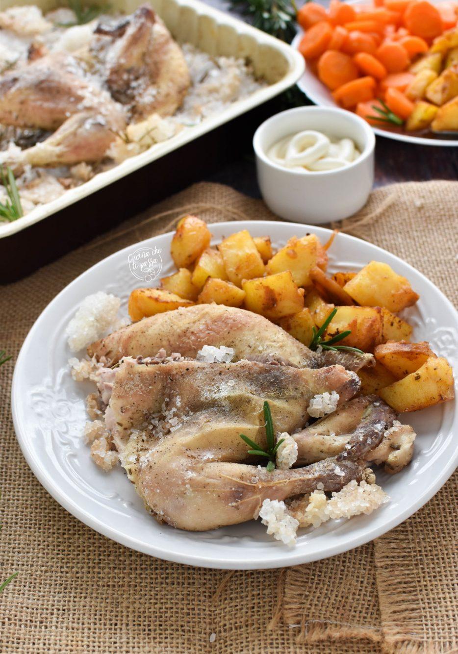 Pollo al sale ricetta