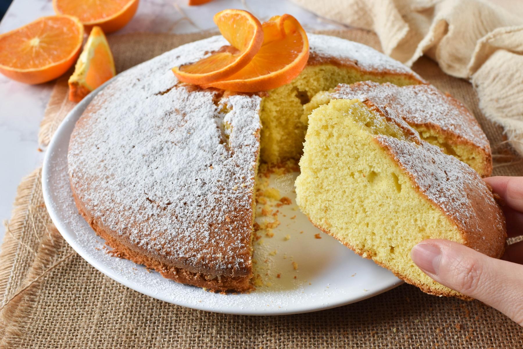 torta margherita all'arancia ricetta
