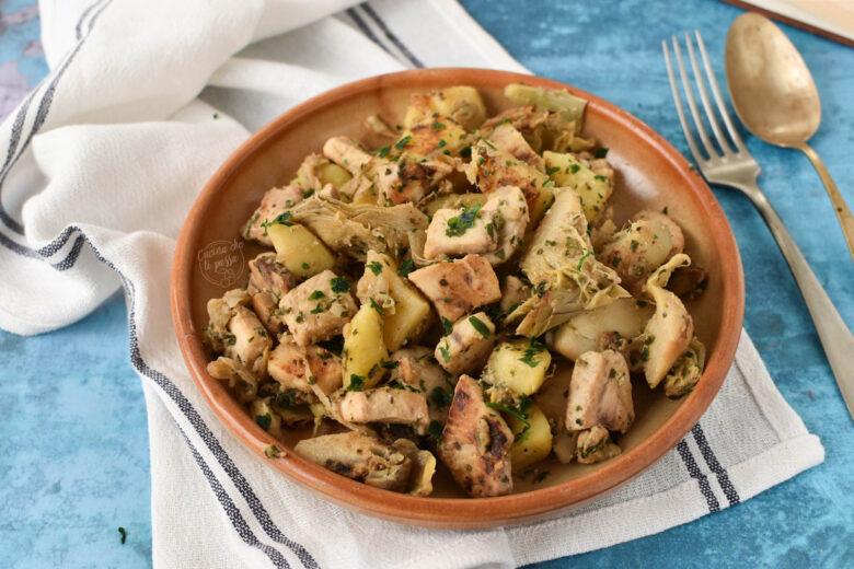 Spada con carciofi e patate