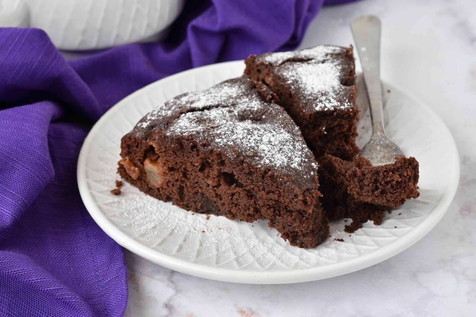 torta cioccolato e pere ricetta