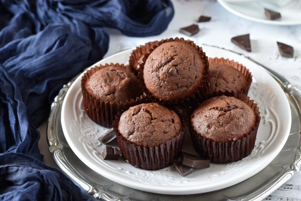 Muffin con doppio cioccolato ricetta