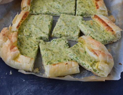 Pasta sfoglia con zucchine e ricotta