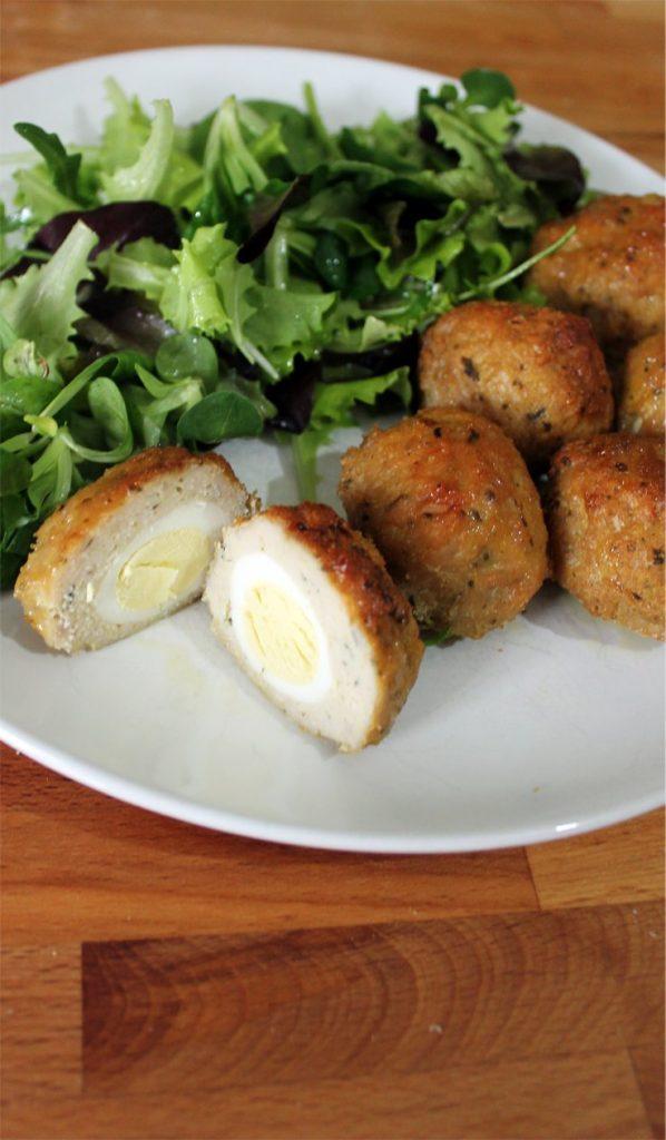 polpette di tacchino con uova di quaglia