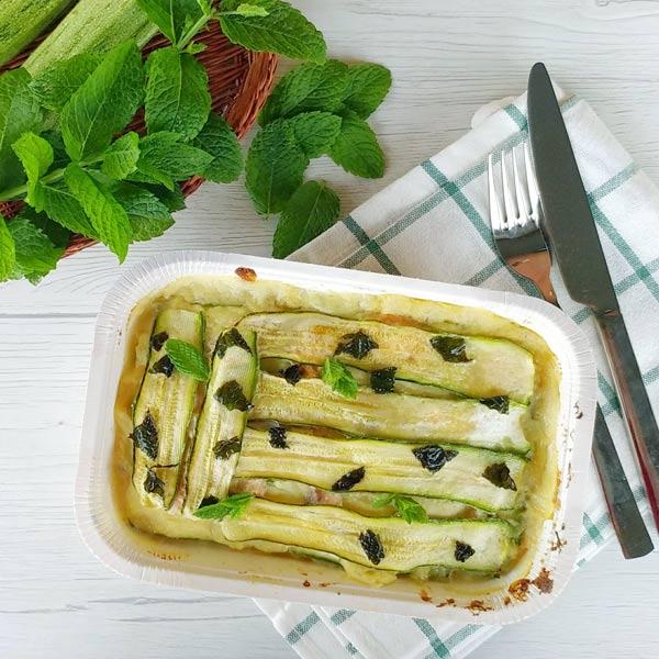 parmigiana bianca di zucchine