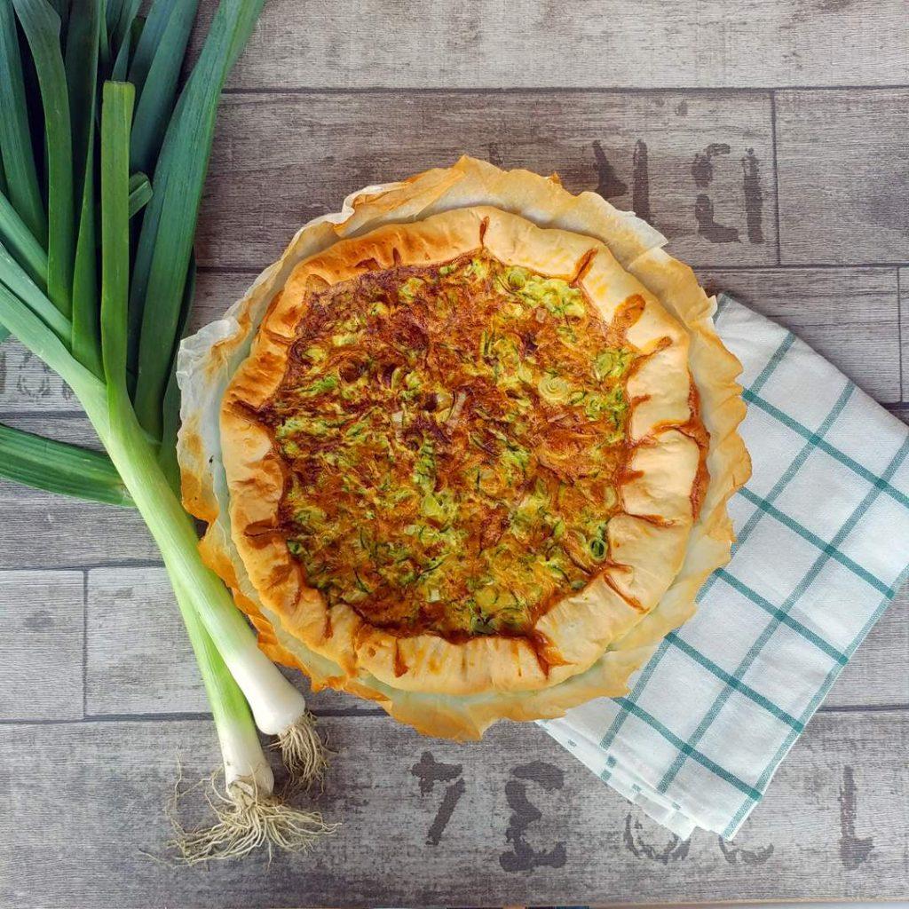 TORTA SALATA CON PORRI E ZUCCHINE