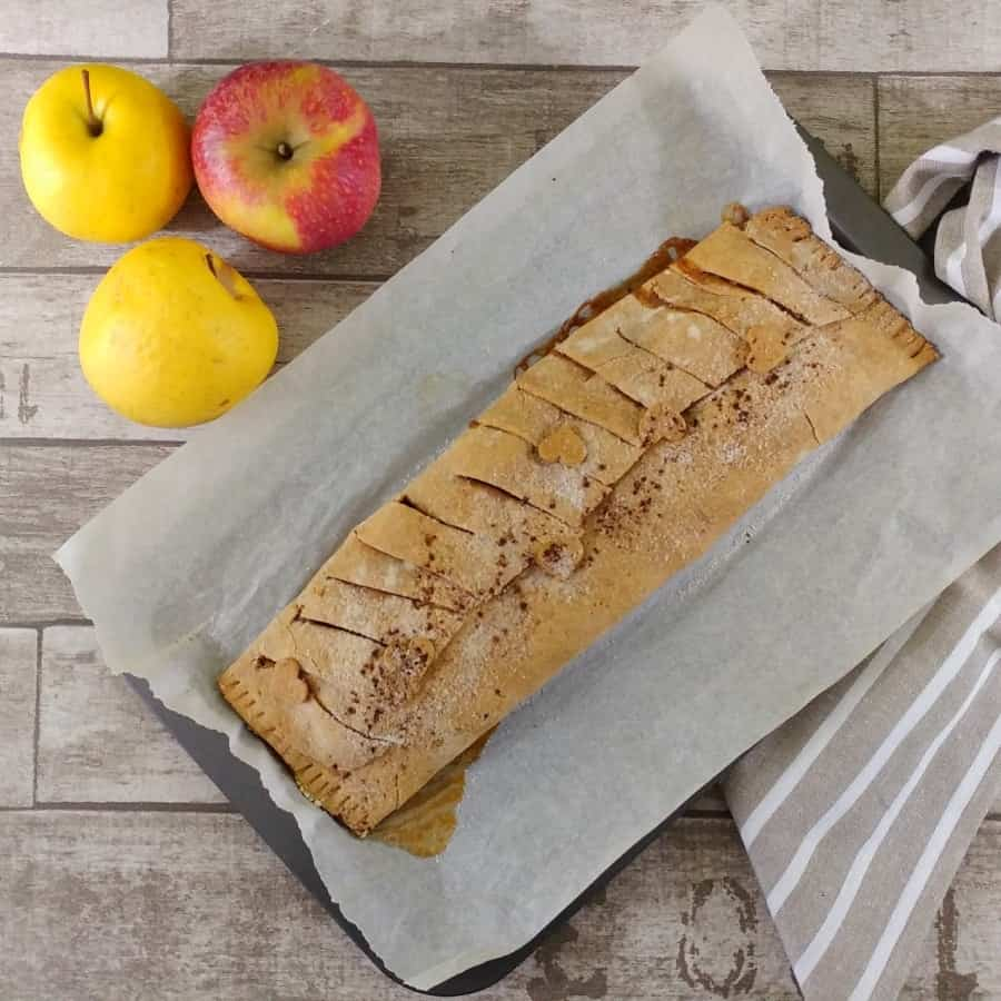 strudel di mele con farina di amaranto