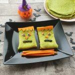 Crepes verdi spaventose per halloween