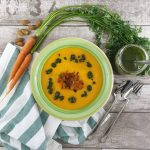 Vellutata di carote, dalla punta al ciuffo