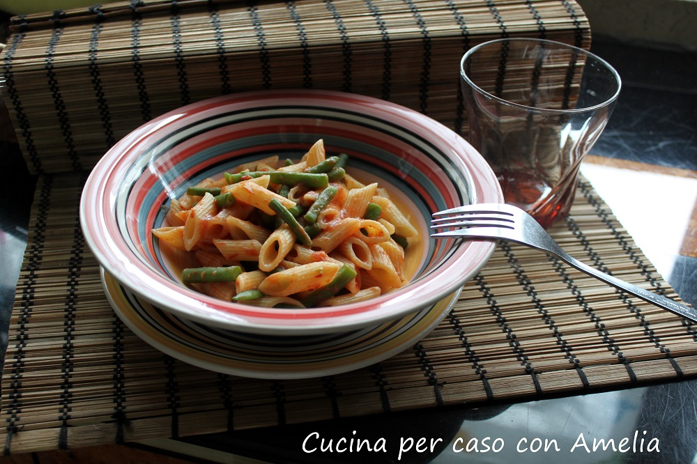Pasta al pomodoro e fagiolini - Cucina per caso con Amelia