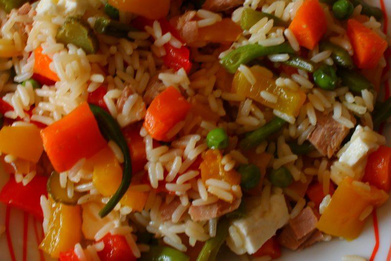 Insalata di riso con verdure, ricetta