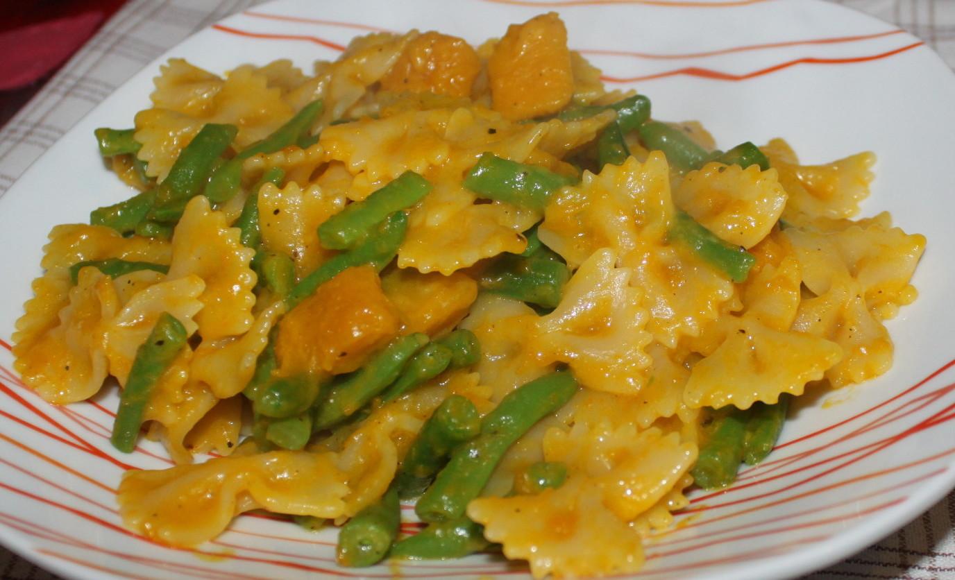 Pasta zucca e fagiolini ricetta semplice cucina per for Cucinare fagiolini