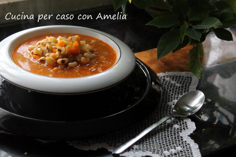 Fagiolini occhio, zuppa vegetariana